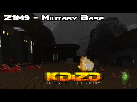 Knee Deep In ZDoom - Z1M9 Military Base (100% Secrets) [HD]