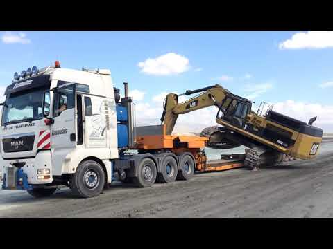 Transporting Caterpillar 365C - Heavy Transports