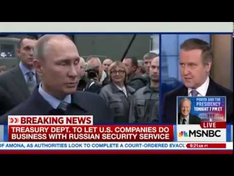 Trump administration eases sanctions against Russian KGB. A thank you note to Putin.