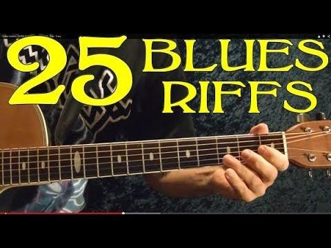 25 Blues Riffs - Guitar Lesson