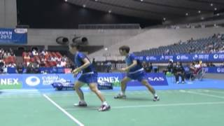 Highlight - Kang J.W./Jang Y.N. vs S.Ikeda/R.Shiota - Quarter Final, 2012 Yonex Open Japan