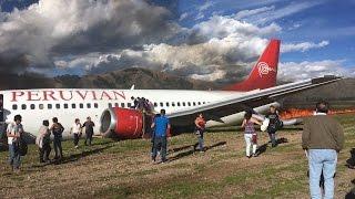 Жесткая посадка: Boeing 737 вылетел за пределы ВПП и загорелся