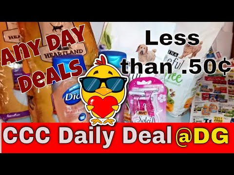 Dollar General 12 Items $2.44 Any Day Deal.😸
