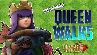 BEST TH9 Queen Walk WAR ATTACK STRATEGIES - CLASH OF CLANS