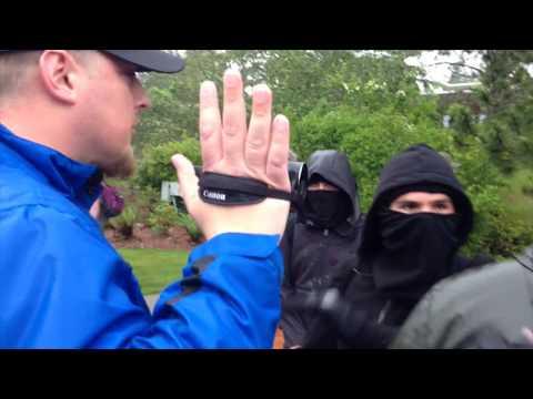 ANTIFA fails to block cameras at free speech event