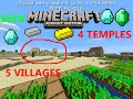 MCPE 0.17.0 STRONGHOLD UNDER SPAWN, 4 TEMPLES, 5 VILLAGES SEED MINECRAFT PE