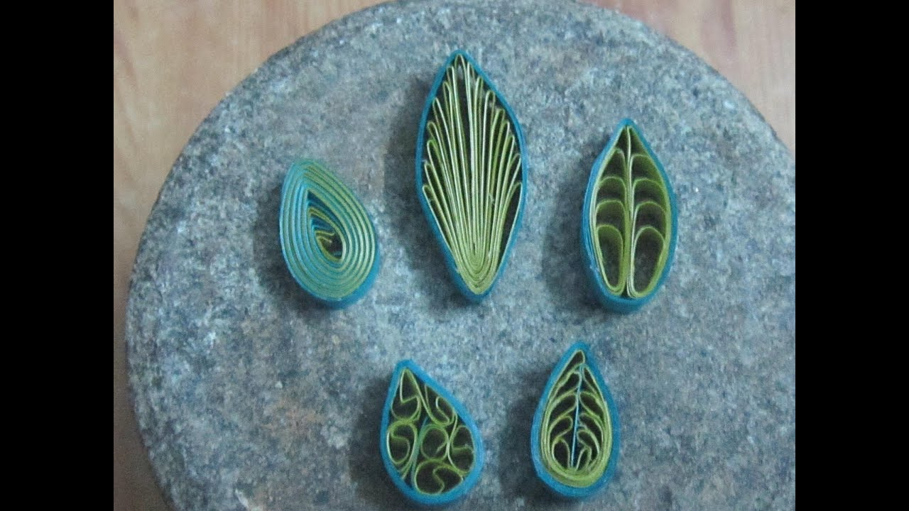how to make quilling leaves (5 different types) - YouTube for How To Make Quilling Shapes  66pct