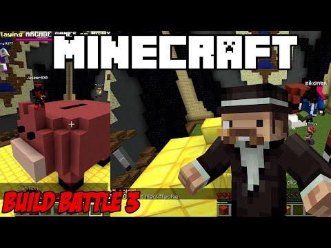 Minecraft Mini-games: Build Battle #3 กระปุกหมูกับโปเกม่อน