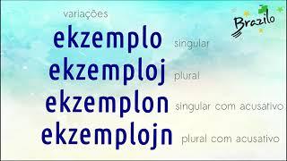 EKZEMPLO substantivo em Esperanto