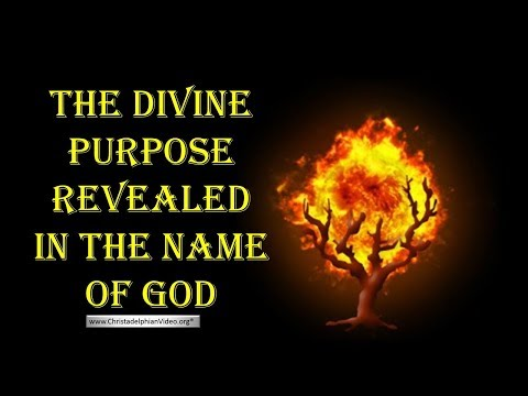 The Divine Purpose Revealed in the  name of GOD