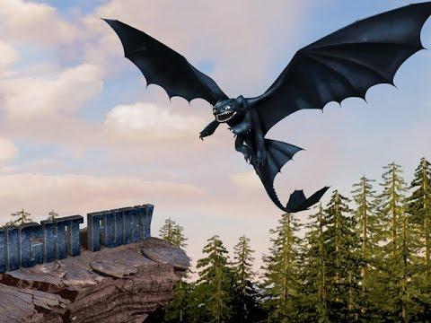 Как приручить дракона Новая жизнь игра  для детей How to train your dragon
