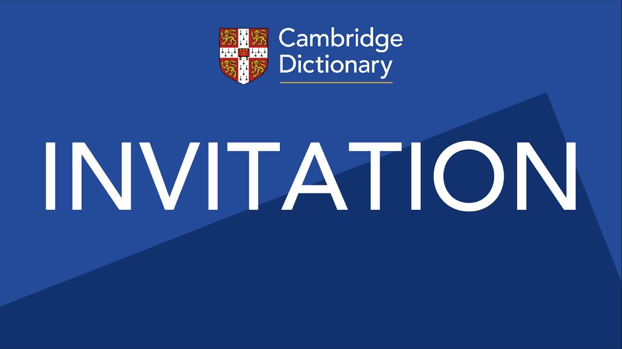 Invitation Pronunciation In English