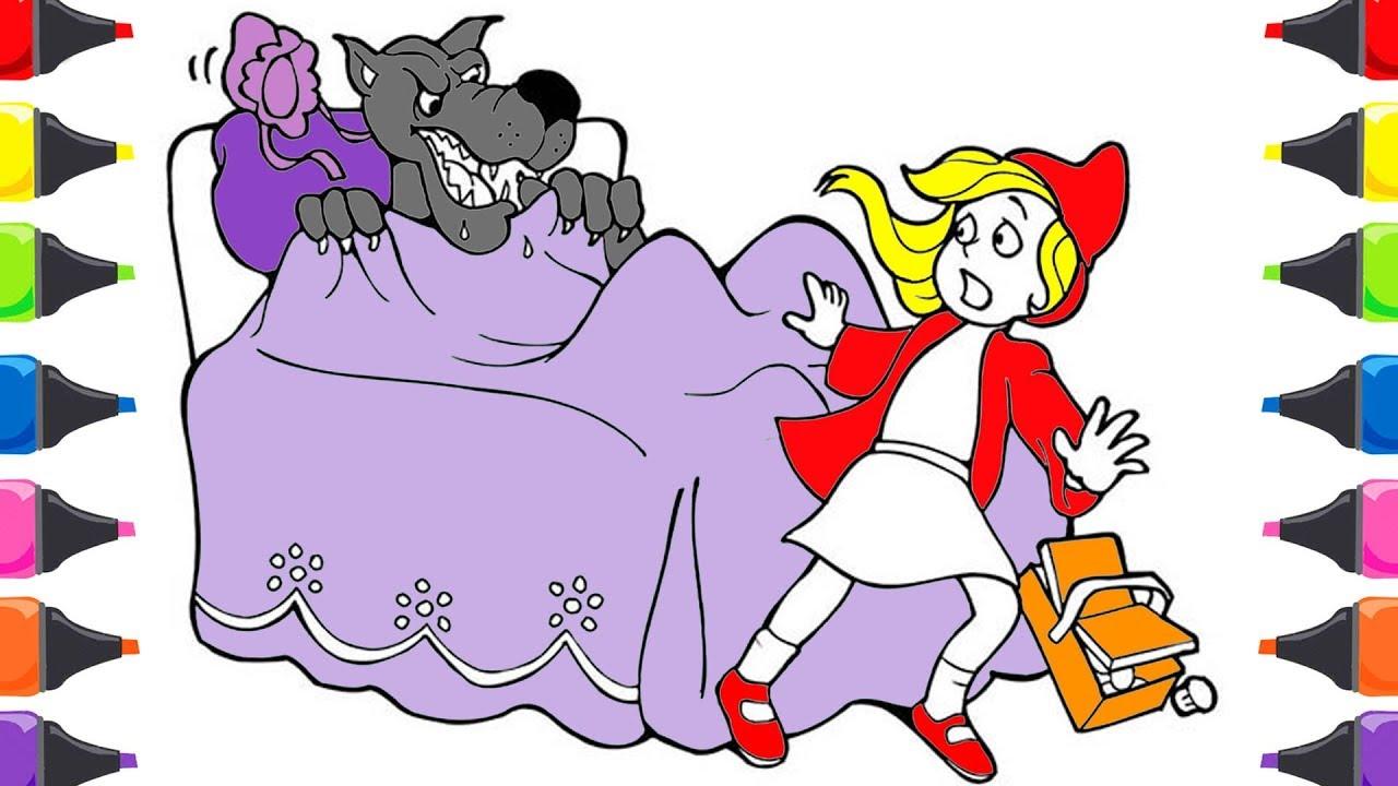 Kırmızı Başlıklı Kız Masalı Boyama Renkleri öğreniyorum Renkler