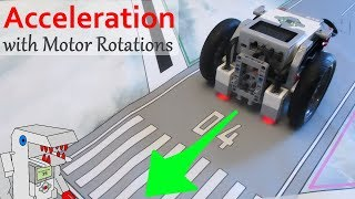 Advanced Acceleration Program Controlled with Motor Rotations - EV3 Navigation with Bendik Skarpnes