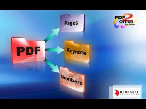 [Mac PDF Converter] PDF2Office for iWork - PDF to Pages, Keynote, Numbers