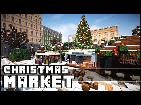 Minecraft - Christmas Market (Christmas Inspiration)