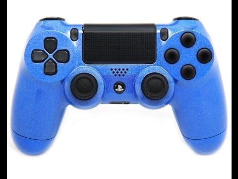 """""""pearl blue"""" ps4 custom modded controller - youtube"""