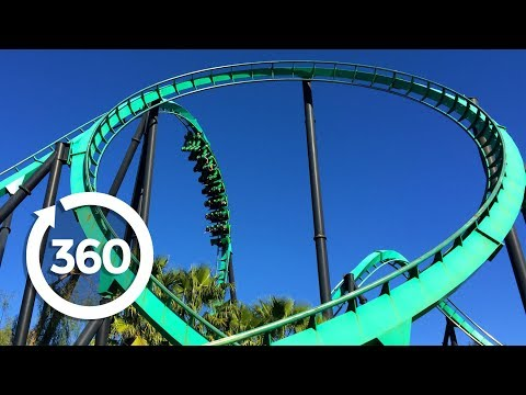 Mega Coaster: Get Ready for the Drop (360 Video) 60FPS