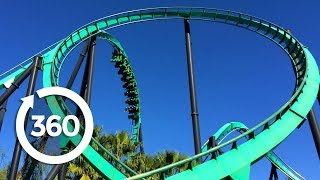 mega coaster get ready for the drop 360 video