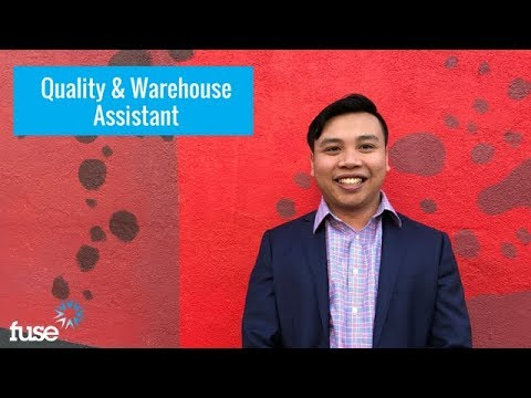 Fuse Job Opportunity: Quality & Warehouse Assistant, Melbourne