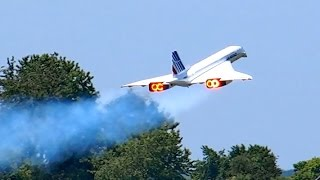 CONCORDE AIR FRANCE HUGE RC SCALE TURBINE MODEL JET DEMO FLIGHT / RC Airshow Airliner Meeting 2015