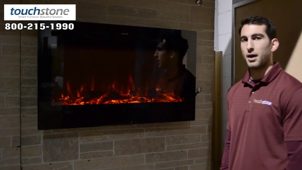 80014 touchstone sideline 36 u0027 recessed electric fireplace youtube