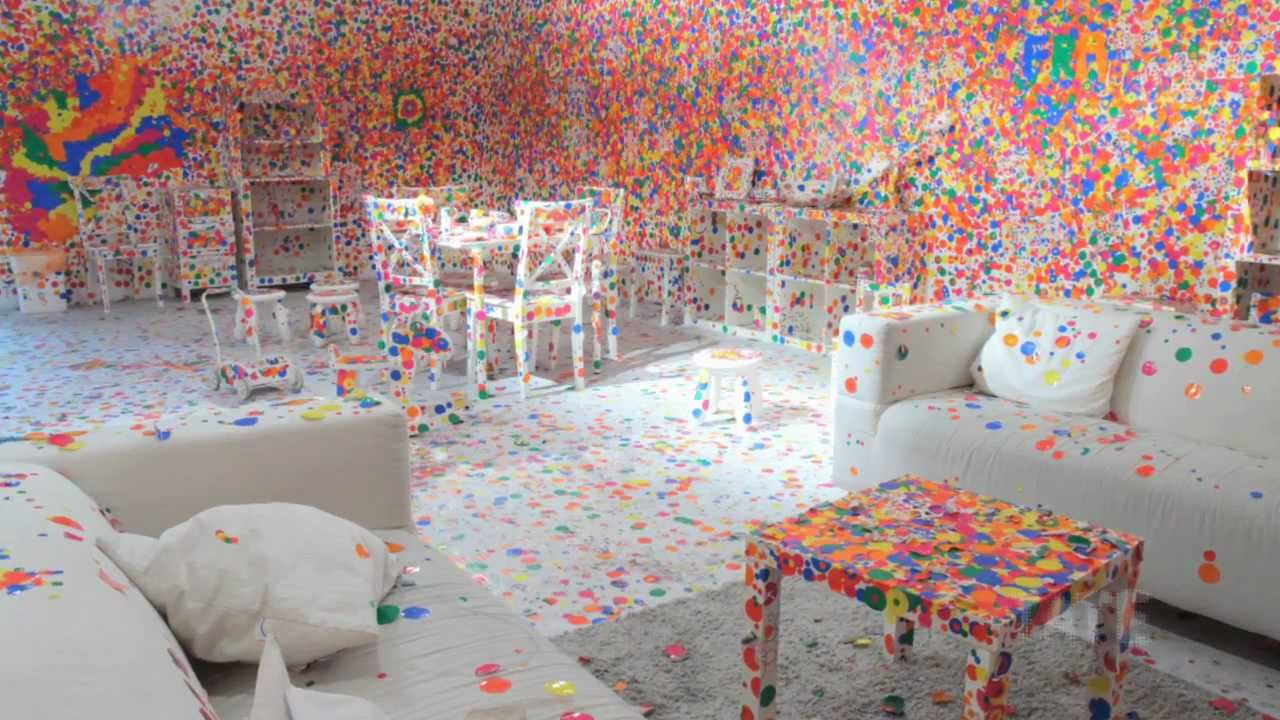 Yayoi kusama 39 s obliteration room tateshots youtube for Dots design apartment 8