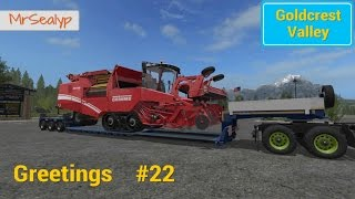 Let's Play Farming Simulator 17 PS4: Goldcrest Valley Greetings, #22 (Lease & Load!)