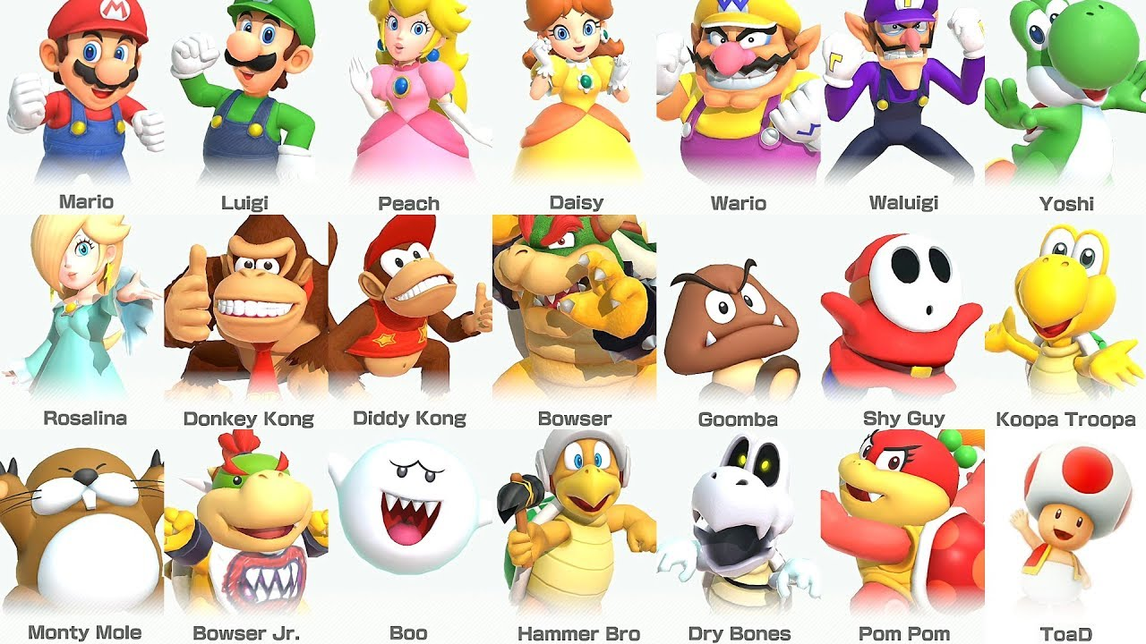 Super Mario Party All Characters Youtube