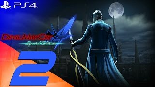 Devil May Cry 4 Special Edition - Vergil Walkthrough Part 2 - The Castle [1080p 60fps]