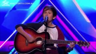 у мальчика невероятный ангельский голос!!! зал и судьи не сдержали слез!!! Х Фактор Австралия