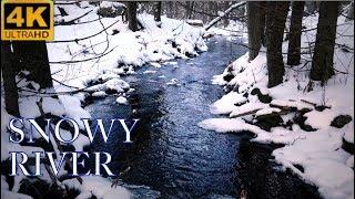 Snowy Winter River 4K NO LOOP
