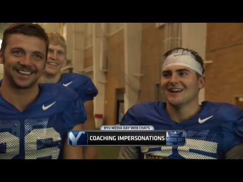 Coach Lamb and Coach Tuiaki on 2017 BYU Media Day