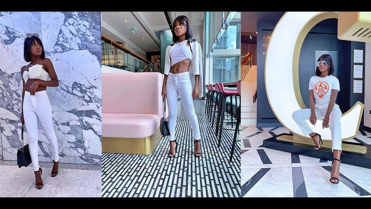 [VIDEO] - HOW TO STYLE WHITE BASICS - CHIC ALL WHITE OUTFITS + SUMMER LOOKBOOK 3