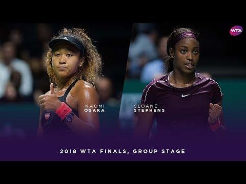 Naomi Osaka vs. Sloane Stephens   2018 WTA Finals Singapore Round Robin   WTA Highlights 大坂なおみ