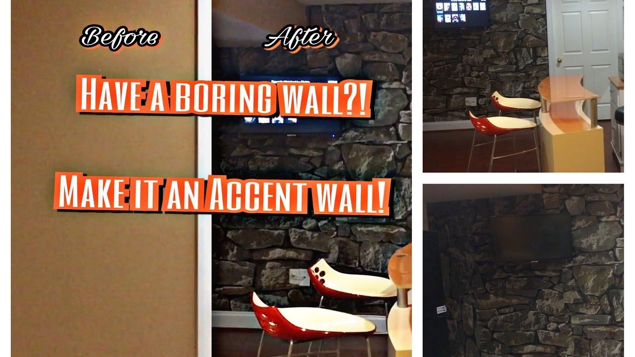 diy wallpaper stone wall mural youtube diy wallpaper stone wall mural