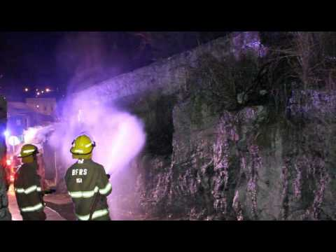 Fire Service Attend Brush Fire Wellington St George's Bermuda December 22 2011