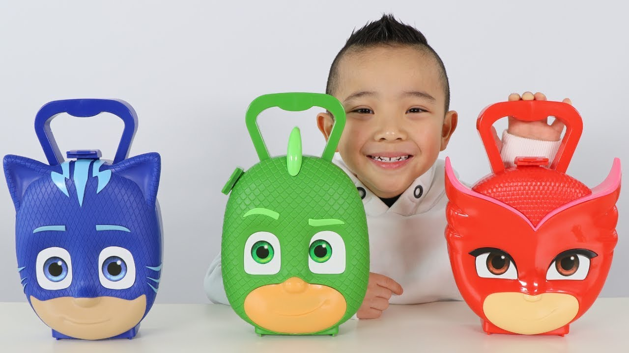 Download PJ MASKS SURPRISE TOYS Opening Fun With Catboy Gekko Owelette And Ckn Toys