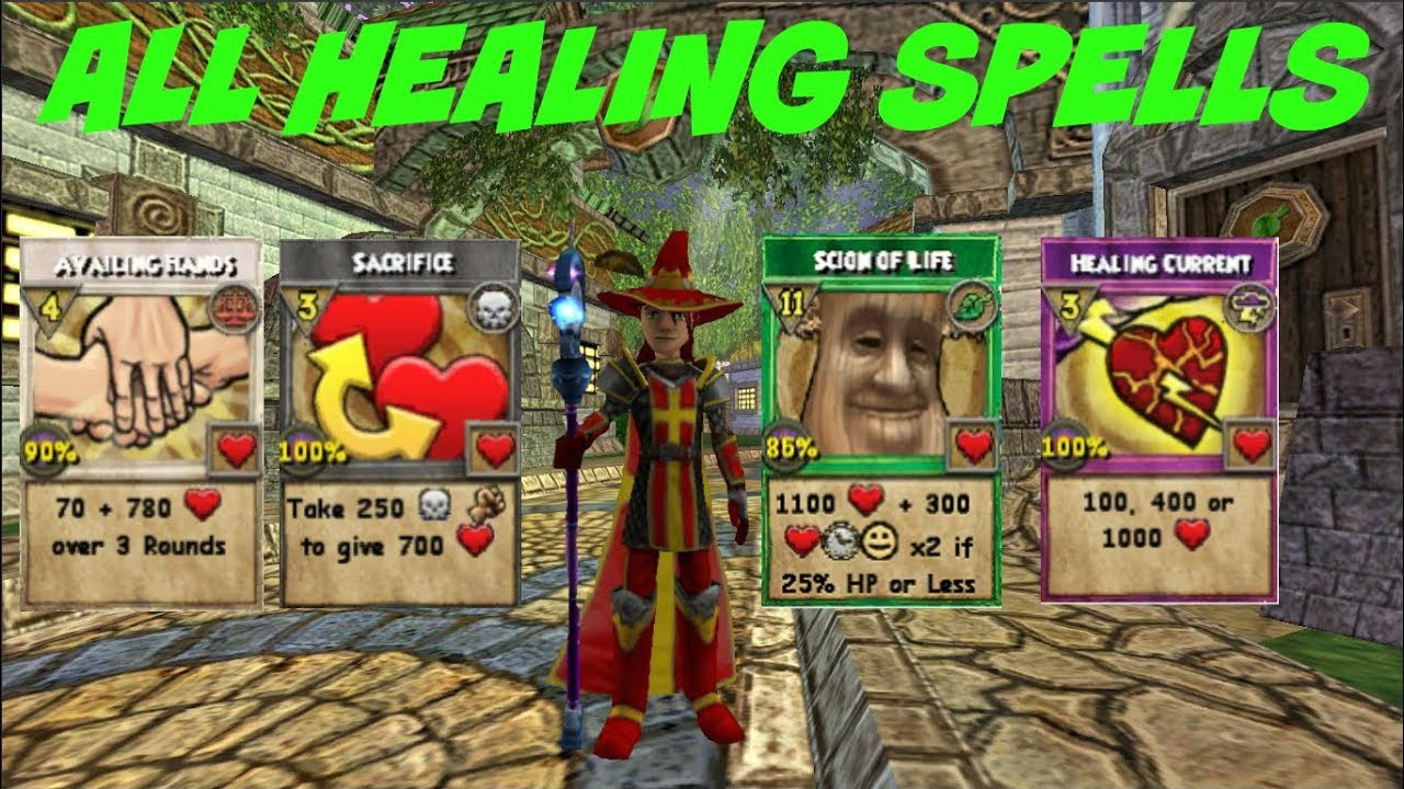 Wizard101: All Healing Spells (2019) - YouTube