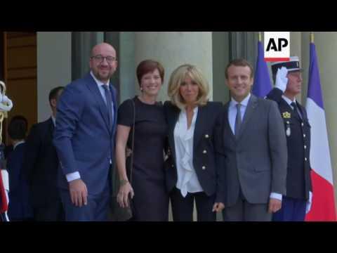 PMs of Belgium, Luxembourg meet Macron