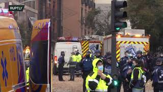 LIVE: Two reported dead after massive explosion in central Madrid