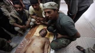The last moments of Muammar Gaddafi