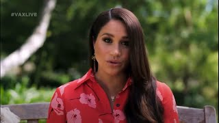 video: Meghan, Duchess of Sussex, calls for more support for women post-pandemic at VAX Live concert