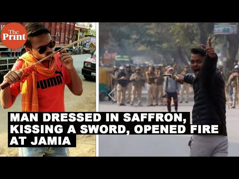 Man dressed in saffron, kissing a sword, opened fire at Jamia