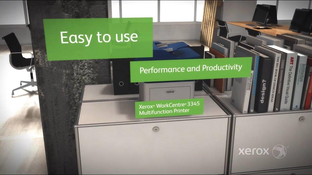 meet the xerox workcentre 3345 multifunction printer youtube rh youtube com