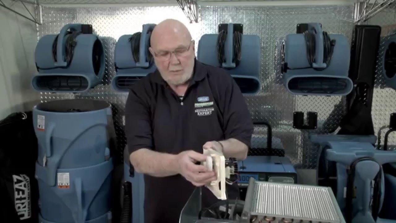 Servicing The Dri Eaz Drizair 1200 Portable Dehumidifier Youtube Dca Pool Dehumidifiers Wiring Diagram