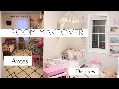 IDEAS económicas para cuarto de niñas +Tour +Transformación + DIY