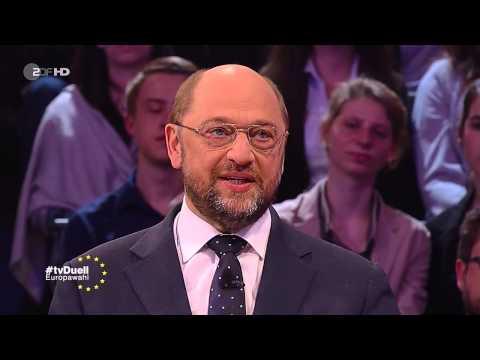TV-Duell zur Europawahl | Schulz vs. Juncker (ganze Sendung)