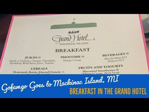 Mackinac Island - Breakfast At The Main Dining Room Of The Grand Hotel (2016)