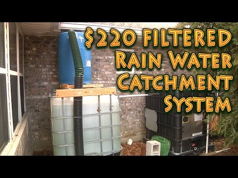 550 Gallon Rain Catchment System – FILTERED!